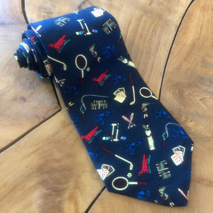 1994 Liberty Bell Weekend Neck Tie 90s Silk USA